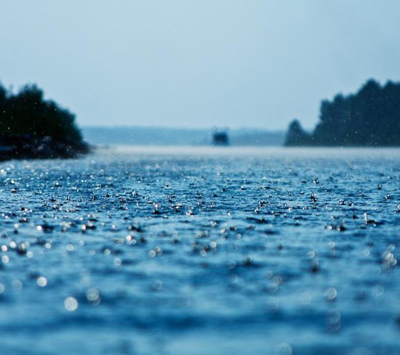Les bruits de la pluie et du tonnerre